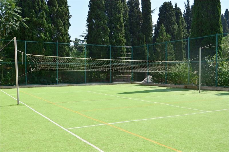 Спортивная площадка на территории санатория Киев