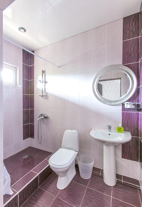 Туалетная комната в Стандартном двухместном номере гостиницы Кристалл