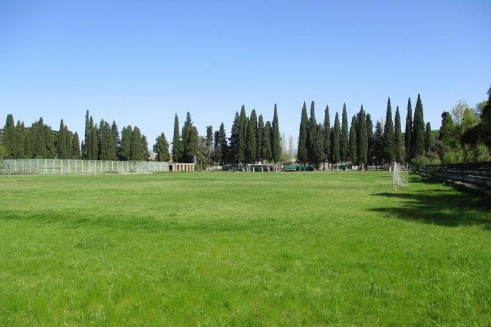 Футбольное поле на территории пансионата Лагуна