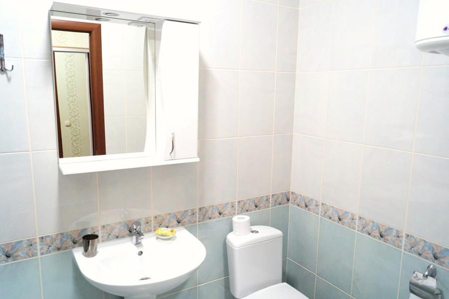 Туалетная комната номера Стандарт в Корпусе Аврора пансионата Ласковый берег