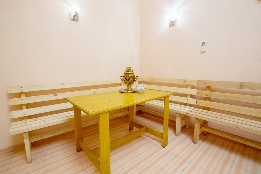 Комната отдыха в сауне пансионата Лазурный берег, Гагра, Абхазия