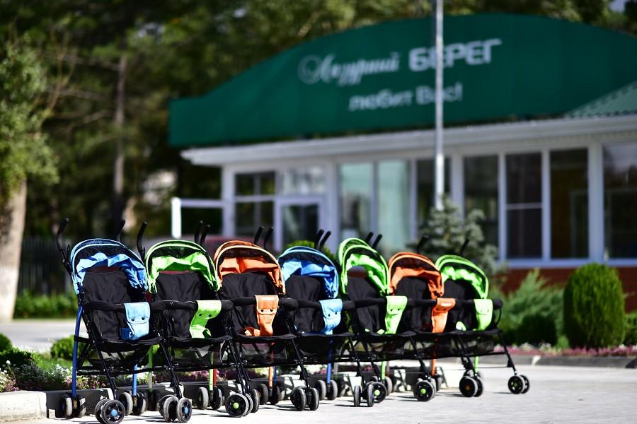 Прокат детских колясок на территории парк-отеля Лазурный берег