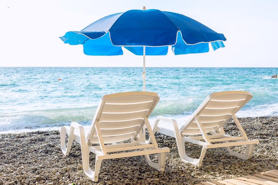 Пляж отеля Левант, Ялта, Крым