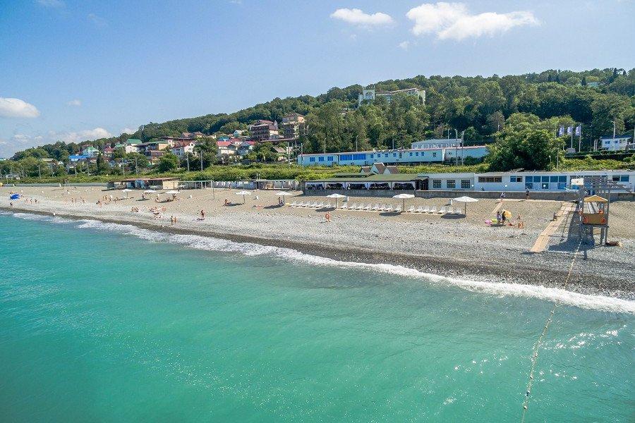 Пляж санатория Магадан
