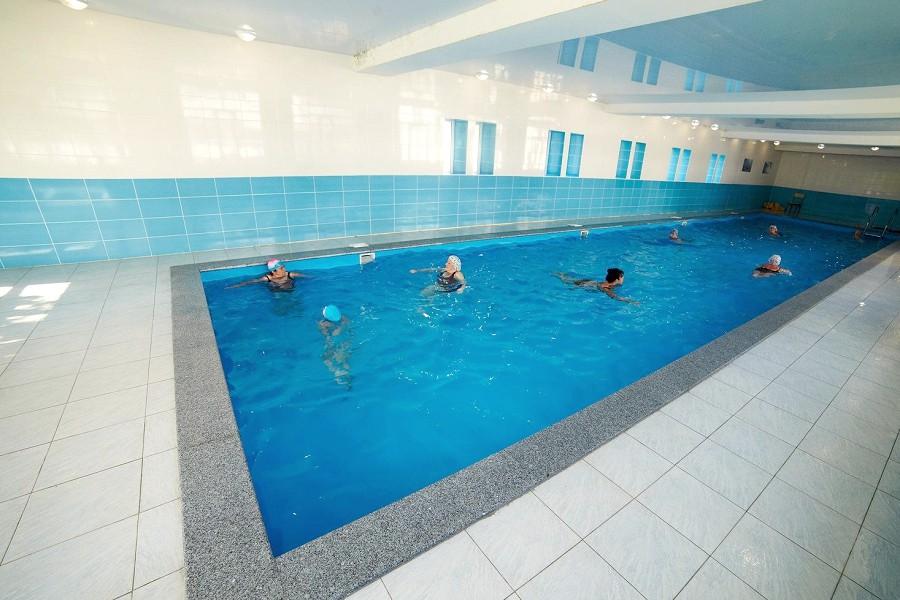 Крытый бассейн санатория Малая бухта