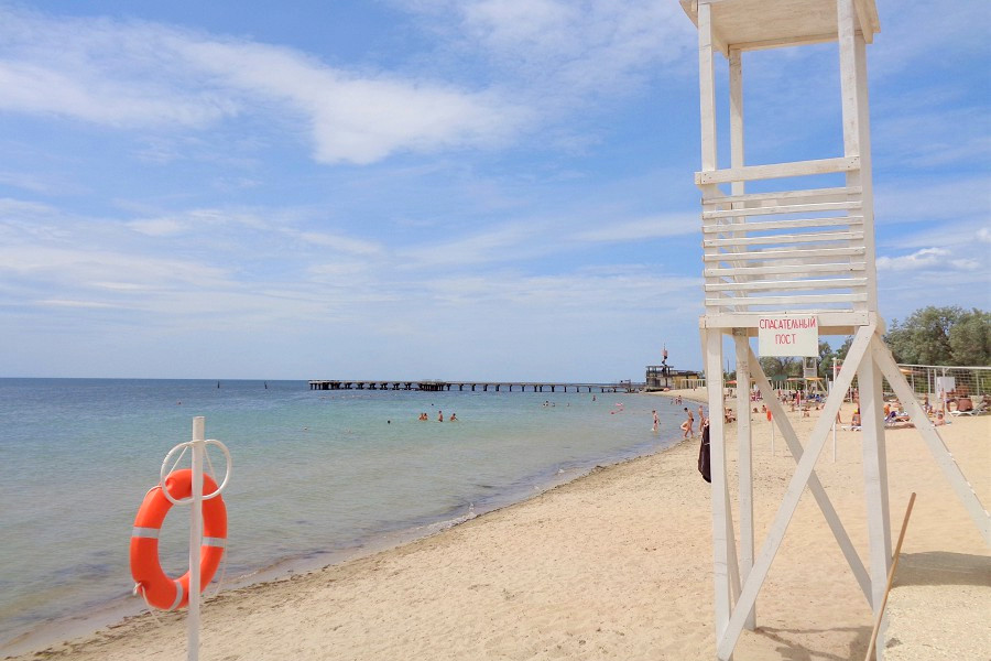 Пляж санатория Маяк