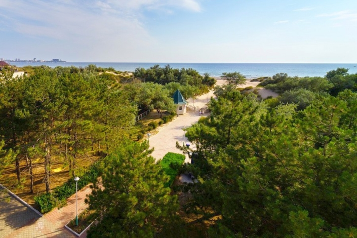 Дорога к пляжу отеля Мечта, Анапа