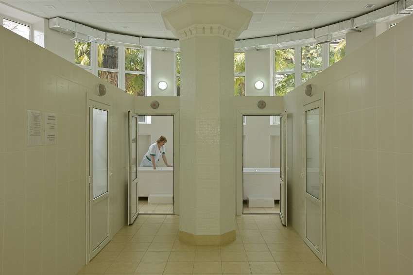 Ванное отделение санатория Металлург