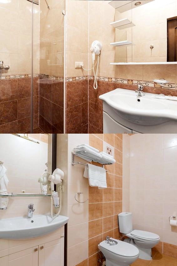 Туалетная комната номера Джуниор Сюит санатория Металлург