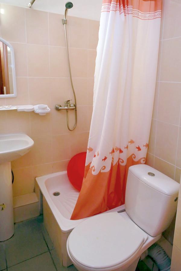 Туалетная комната номера Стандарт в Корпусе № 2 санатория Мисхор