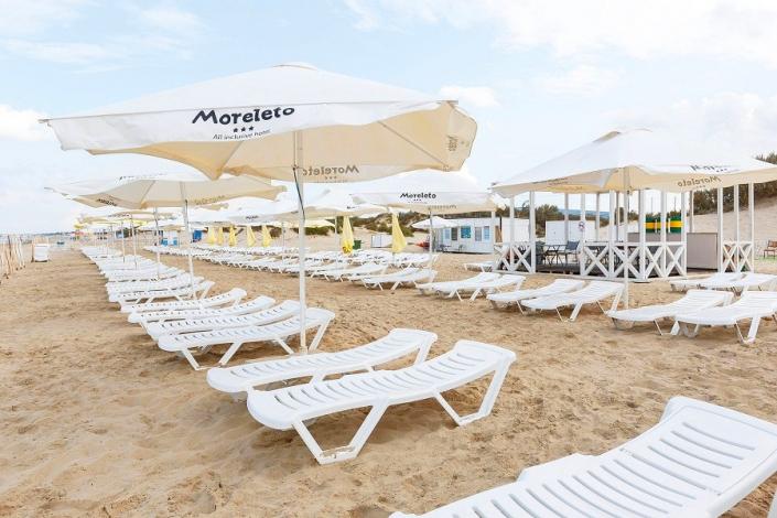 Пляж отеля MoreLeto, Анапа