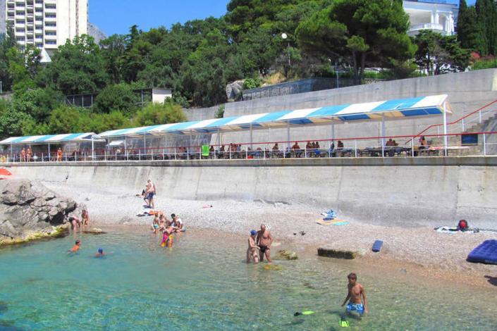 Пляж санатория Морской прибой