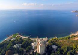 Вид на пляж и территорию санатория Морской прибой