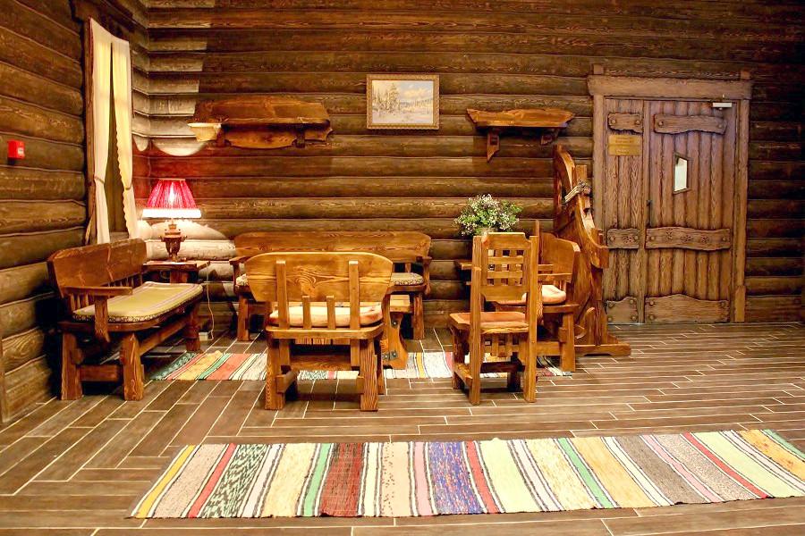 Холл отеля Сибирь, гостиничный комплекс Моя Россия, Красная Поляна, Сочи