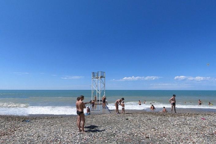 Пляж санатория МВО Сухум