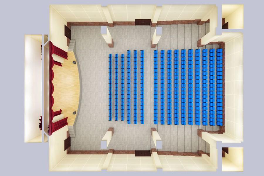 План киноконцертного зала санатория Мыс Видный