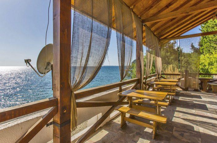 Кафе на пляже пансионата Мюссера, Абхазия