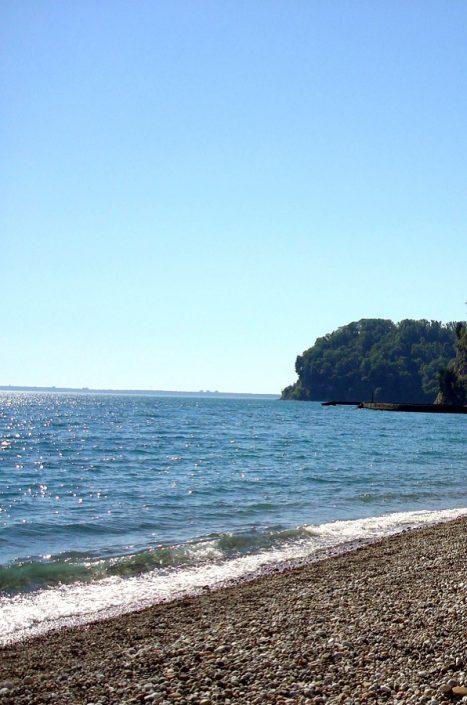 Пляж пансионата Мюссера, Абхазия