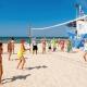 Волейбольная площадка на пляже санатория Надежда