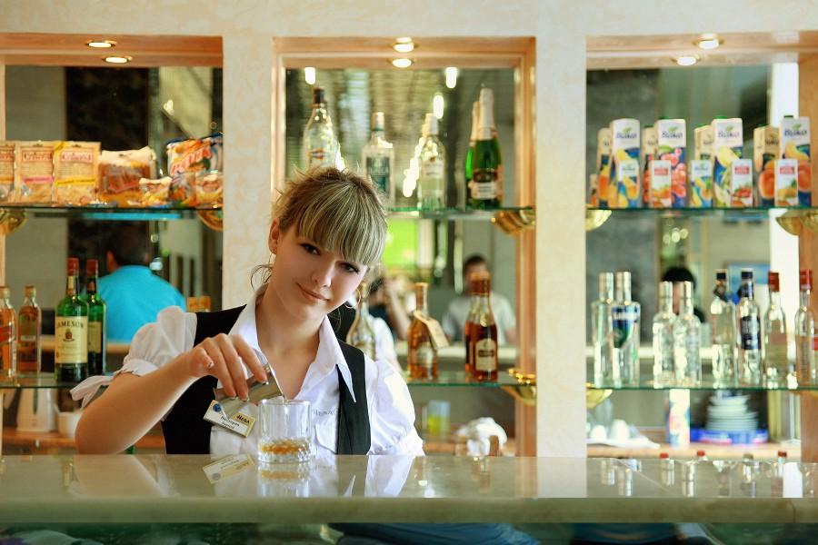 Лобби-бар пансионата Нева