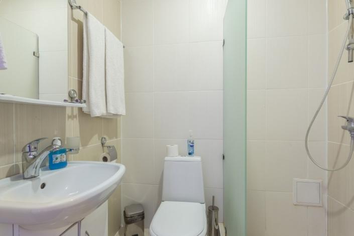 Туалетная комната Стандартного номера в Корпусе 5 отеля Олимп