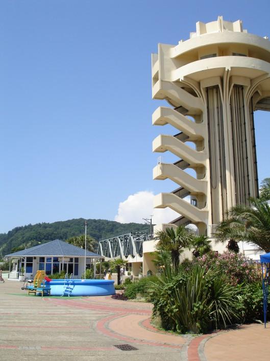 Лифт на пляж пансионата Олимпийский Дагомыс