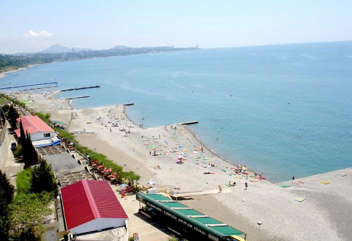 Пляж пансионата Олимпийский Дагомыс