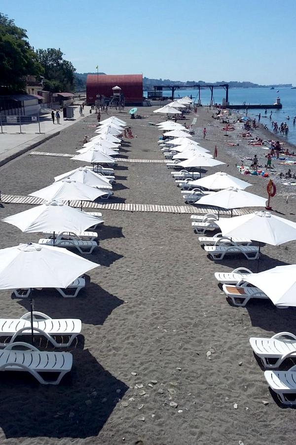 Пляж отеля Orchestra Crystal Sochi Resort
