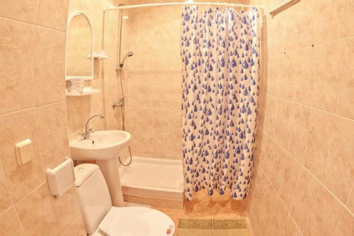 Туалетная комната номера Стандарт двухкомнатный в Корпусе № 11 санатория Орлиное гнездо