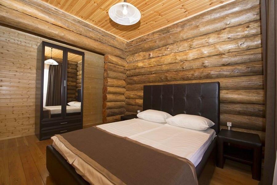 Спальня в коттедже отеля Парадайз