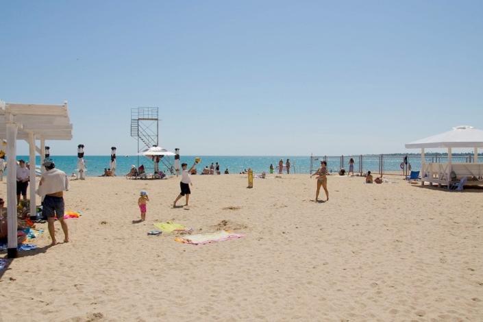 Пляж в Евпатории, Крым