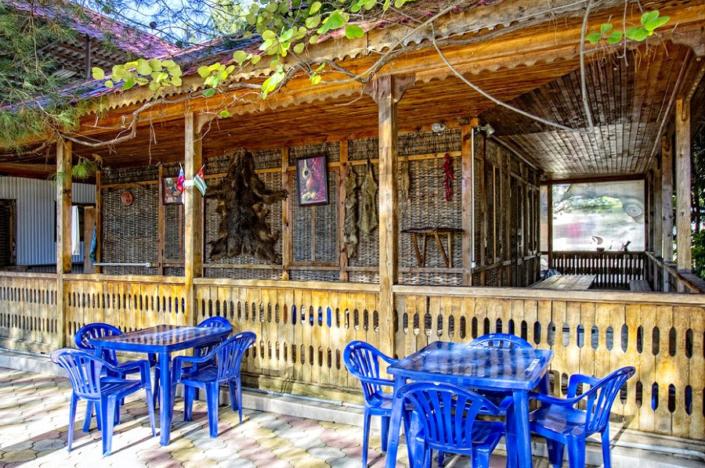 Кафе национальной кухни на территории дома отдыха Питиус, Пицунда, Абхазия