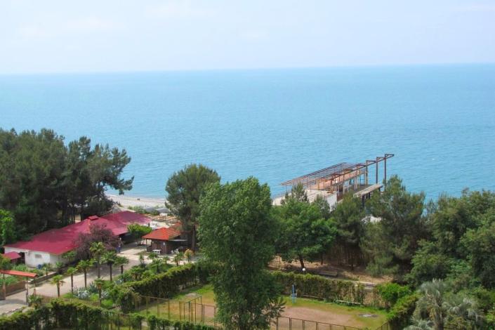 Вид на море из номера дома отдыха Питиус, Пицунда, Абхазия