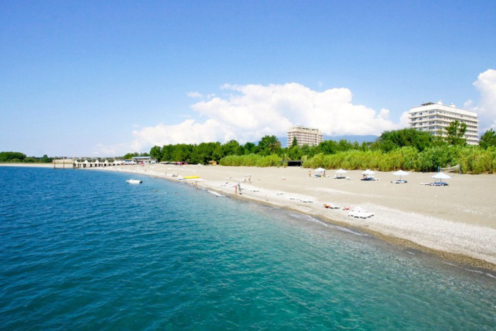 Пляж дома отдыха Питиус, Пицунда, Абхазия
