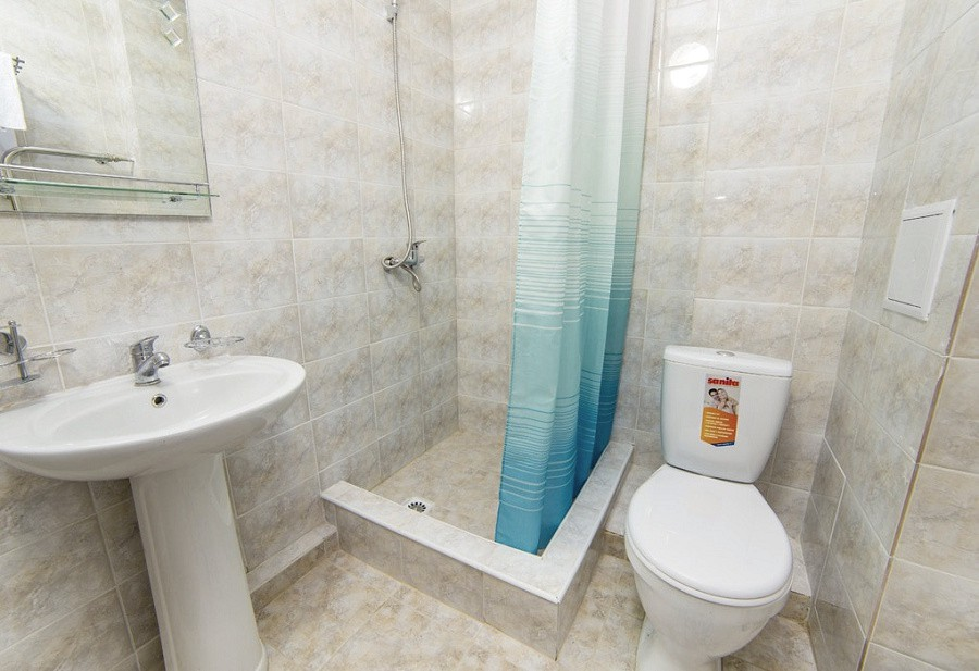 Туалетная комната в номере пансионат Пицунда