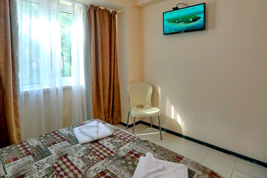 3 категории двухместный с удобствами в номере пансионата Пицунда