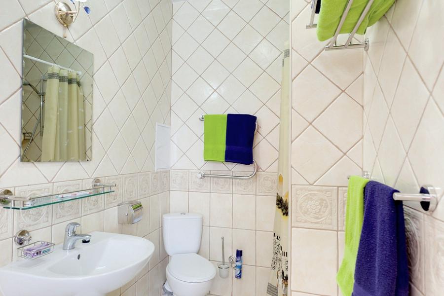 Туалетная комната номера 1 категории, Корпус 1, 2 санатория Полтава-Крым