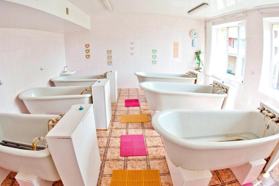 Ванное отделение в санатории Приморье