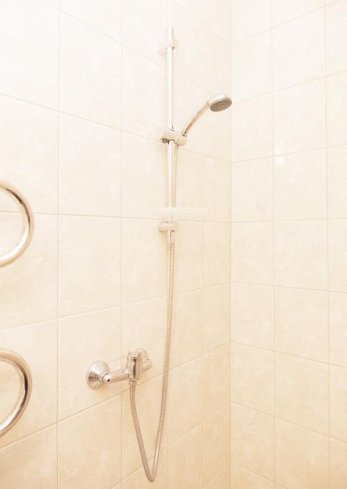 Туалетная комната номера Стандарт в Корпусе 3 пансионата Профессорский уголок