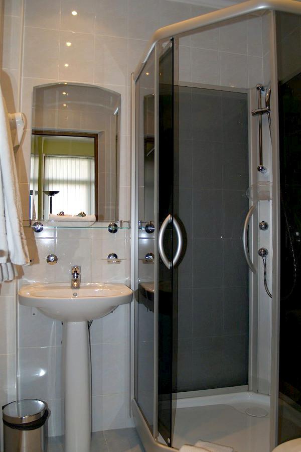 Туалетная комната номера Стандарт в Коттедже отеля Прометей клуб