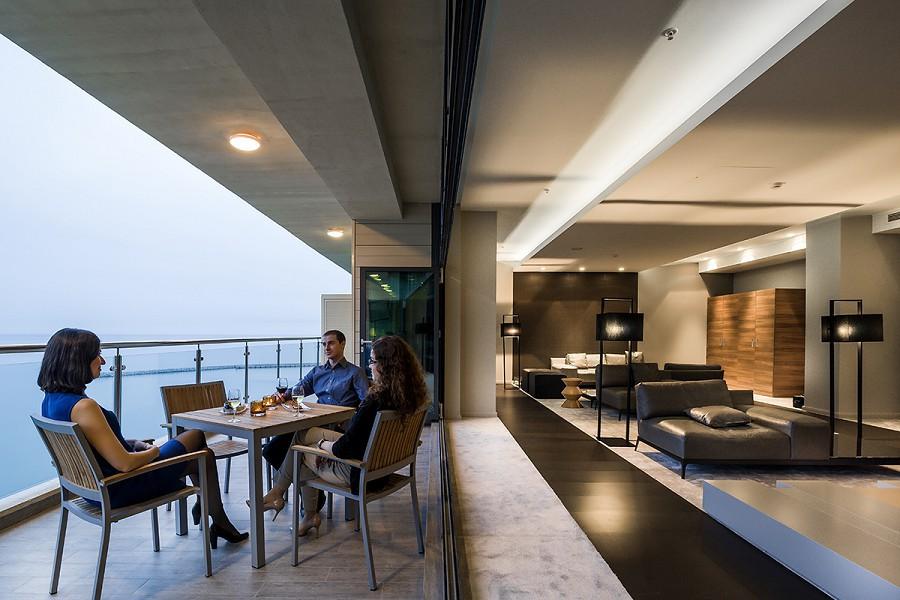 Терраса Executive Lounge отеля Pullman Sochi Centre
