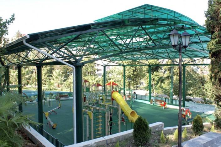 Детский игровой городок в санатории Радуга