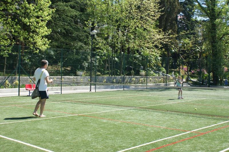 Теннисный корт санатория Радуга