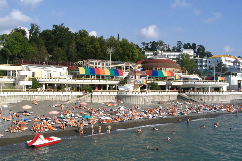 Пляж санатория Радуга