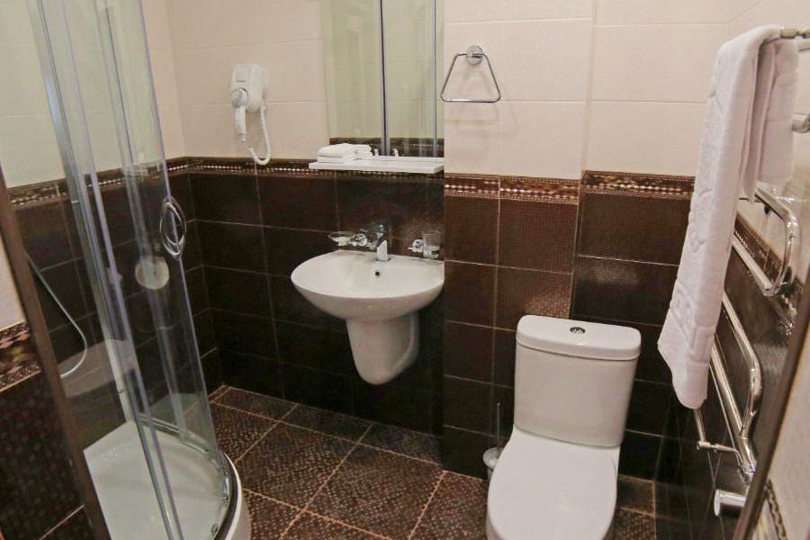 Туалетная комната номера Стандарт в отеле Ribera Resort & Spa