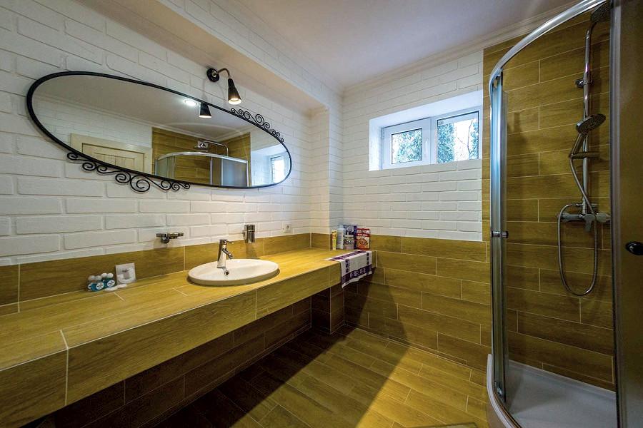 Туалетная комната в коттедже Bianco Ripario Hotel Group