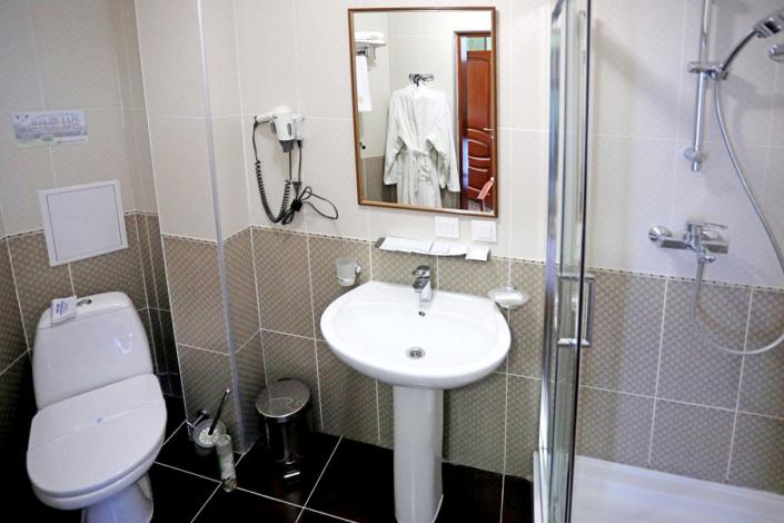 Туалетная комната номера Стандарт Плюс в отеле Ritsk