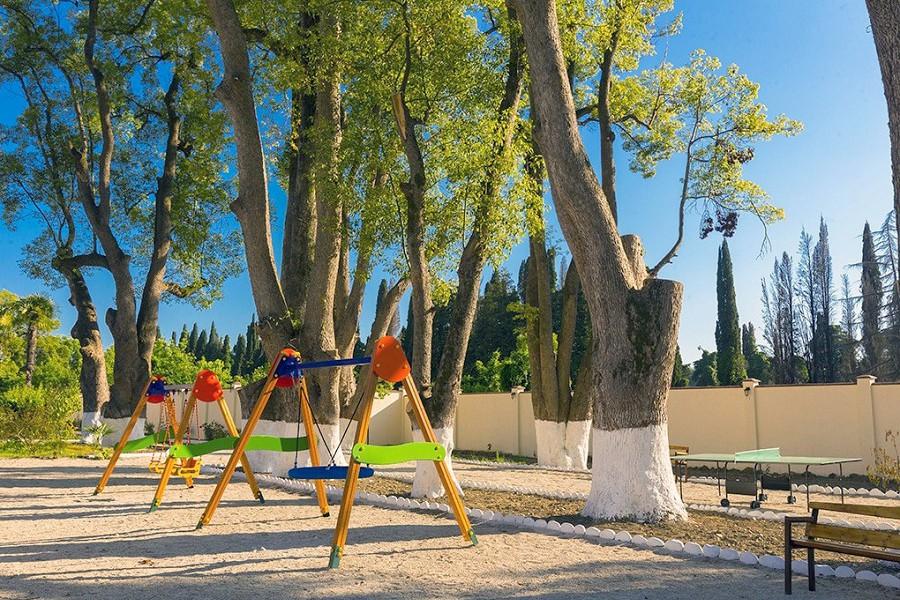 Детская игровая площадка пансионата Ривьера