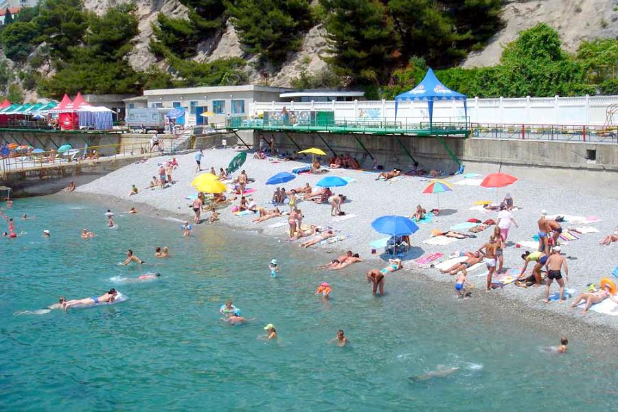 Пляж санатория Родина