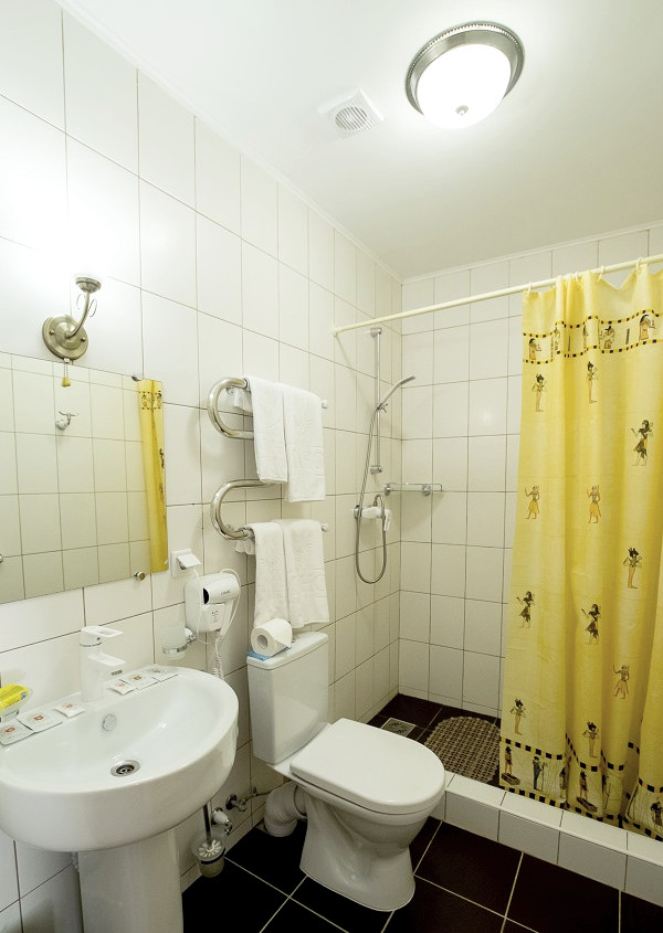 Туалетная комната номера Полулюкс в парк-отеле Романова